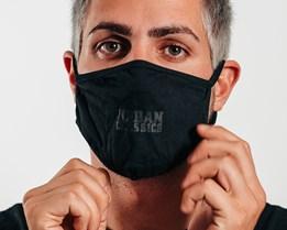 1-Pack Logo Print Black Face Mask - Headzone