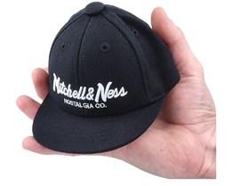Hatstore Exclusive x Pinscript Souvenir Mini Cap Black Fitted - Mitchell & Ness