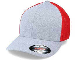 Trucker Mesh Heather Grey/Red Flexfit - Flexfit