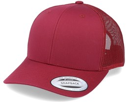 6-Panel Retro Cranberry Trucker - Yupoong
