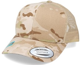 6-Panel Multicam Arid/Tan Trucker - Yupoong