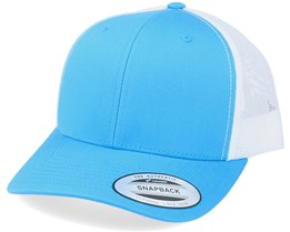 6-Panel Retro 2-Tone Turquoise/White Trucker - Yupoong