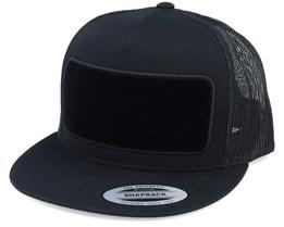 Velvet Patch Black Snapback Trucker - Hatstore