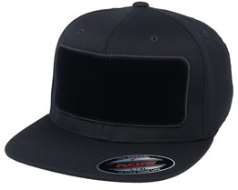 Velvet Patch Flat Brim Black Fitted - Hatstore