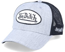 Terry Light Heather Grey/Black Trucker - Von Dutch