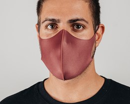 1-Pack Maroon Face Mask - Voz