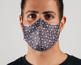 1-Pack Black Paisley Face Mask - Voz