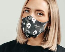 1-Pack Skulls & Skeleton Hands Face Mask - Voz