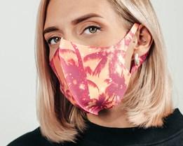1-Pack Sunset Tropical Palms Face Mask - Zeri