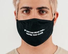 1-Pack Too Close Black Face Mask - Voz