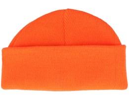 Flourecent Orange Short Beanie - Beanie Basic