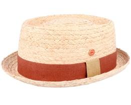 Gareth Raffia Natur Straw Hat - Mayser