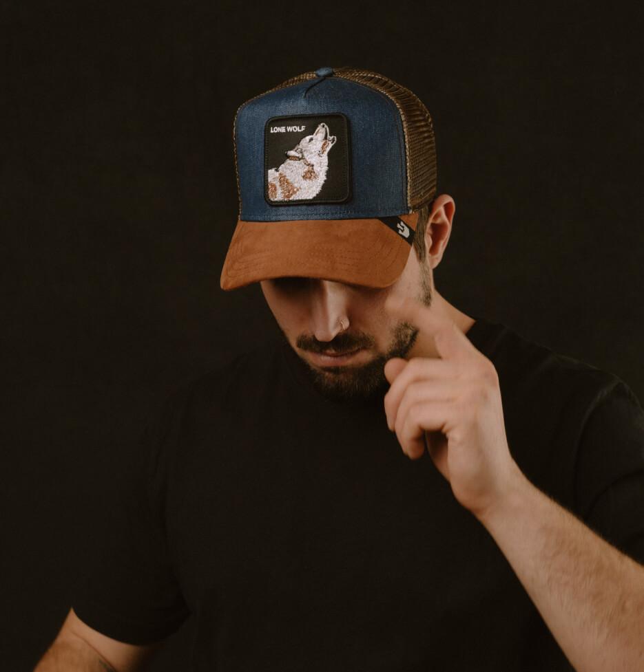Hatstore Exclusive x Wolf Denim/Suede Trucker - Goorin Bros.