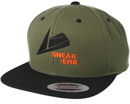 Black Logo Olive Snapback - Sneakers