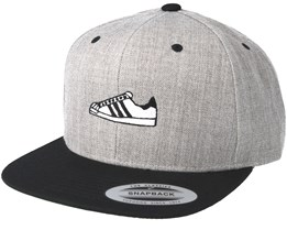 Black/White Shoe Grey/Black Snapback - Sneakers