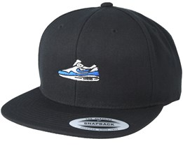 Blue/White Shoe Black Snapback - Sneakers
