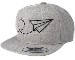 Kids Plane Grey Kids Snapback - Kiddo Cap