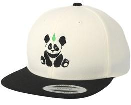 Kids Panda White/Black Kids Snapback - Kiddo Cap