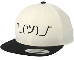 Kids Shrug White/Black Kids Snapback - Kiddo Cap