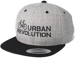 Urban Revolution Heather Grey Black Snapback - Bike Souls