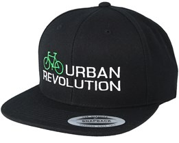 Urban Revolution Green/White Black Snapback - Bike Souls