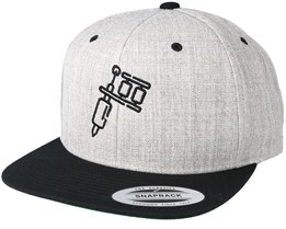 Tattoo Machine Heather Grey Black Snapback - Tattoo Collective