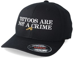 Tattoos Are Not A Crime Black Flexfit - Tattoo Collective
