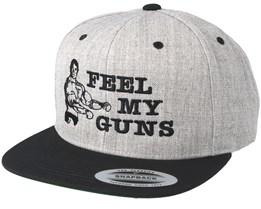 Feel My Guns Grey/Black Snapback - Berzerk