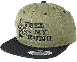 Feel My Guns Olive Snapback - Berzerk