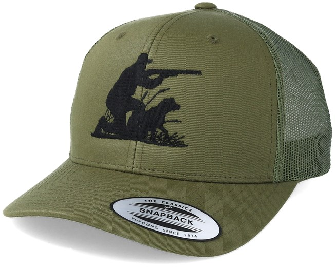 Hunting Team Olive Trucker - Hunter cap - Hatstore.co.in a8b8b3123c5