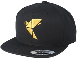 Logo Black/Gold Snapback - Origami