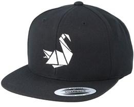 Swan Black/White Snapback - Origami