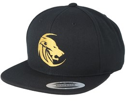 Circle Head Logo Black/Gold Snapback - Lions