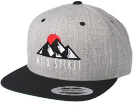 Logo Grey/Black Snapback - Wild Spirit