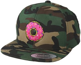 Donut Time Camo Snapback - BOOM
