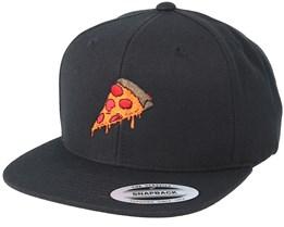 Pizza Time Black Snapback - BOOM