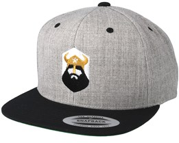 North Shield Grey/Black Snapback - Vikings