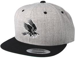 Eagle Heather Grey/Black Snapback - Eagle