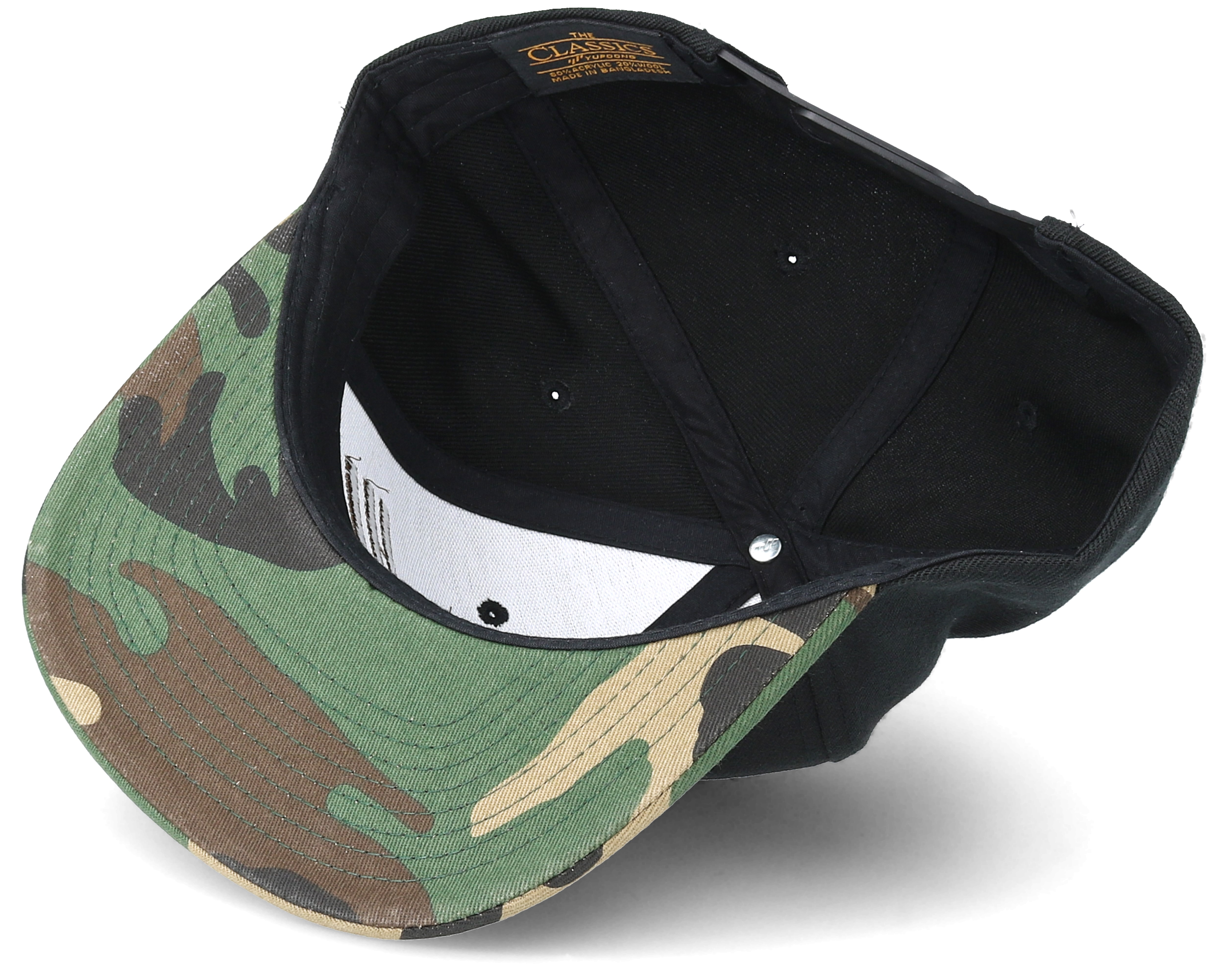 Brand Brown Black Camo Snapback Rave Caps