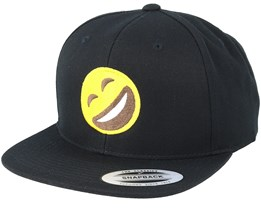 Emoji Laughing Black Snapback - Iconic