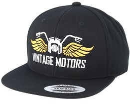 Vintage Motors Black Snapback - Born To Ride