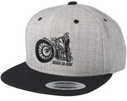 Comfy Ride Grey/Black Snapback - Born To Ride