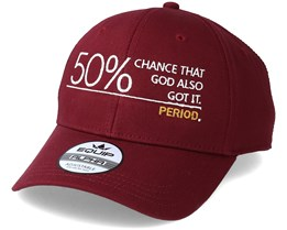 50% Chance Maroon Adjustable - Period