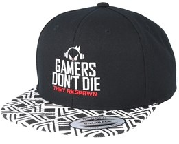 Gamers Don't Die Geometric Black Snapback - Gamerz