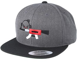 Rifle Dark Grey/Black Snapback - Gamerz