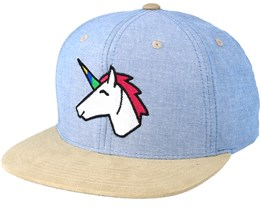 Unicorn Light Blue/Beige Suede Snapback - Unicorns