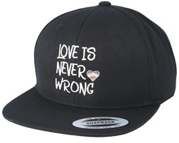 Love Is Never Wrong Black Snapback - Pride
