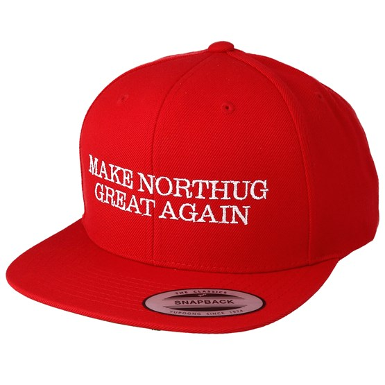 "Keps Make Northug Great Again ""Kläbo"" Red Snapback - Iconic - Röd Snapback"