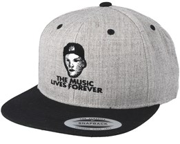 Music Lives Forever Grey Snapback - Iconic