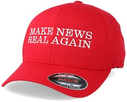Make News Real Again Red Flexfit - Iconic